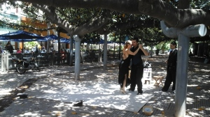 A tango in the park.