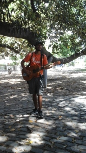 Our tour guide displaying his skills at guitar playing and singing.