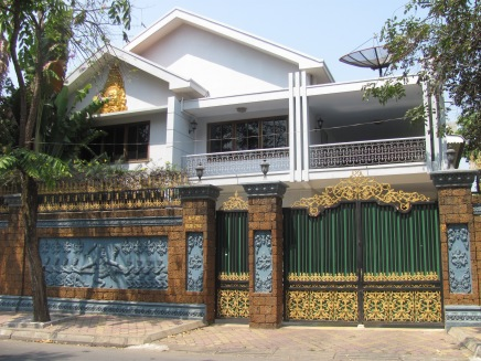 Home of a rich family in Phnom Penh