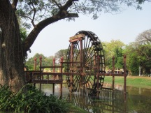 River and water wheel in Siem Reap