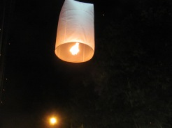 A close up of a lantern