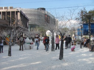Fake snow in Chiang Mai