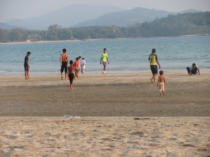 Soccer on the beach in Koh Lanta