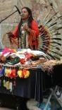 An Indigenous musician in Cuenca.