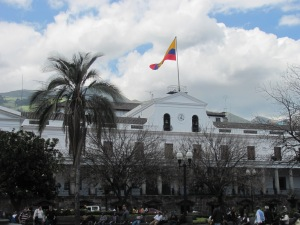 The Presidential offices at the Plaza de Grande in Quito.