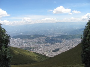 Looking over Quito from the top.