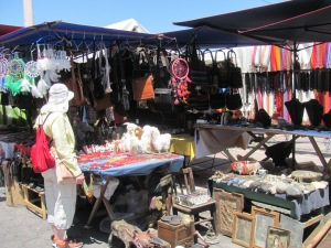 A tiny portion of the market in Otavalo.