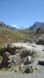 "Aconagua -""the roof of the world"". Over 7,000 m. high."