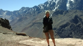 At the top of the Andes near the Chilean border.