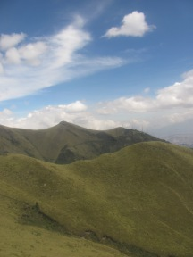 View from Volcan Pichincha- Quito