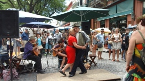 Tango in the plaza at San Telmo.