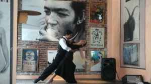 Tango in a cafe at San Telmo.