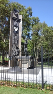 A monument of Eva Peron.