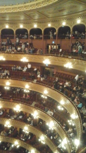 Inside the theatre from where we sat for Don Giovanni.