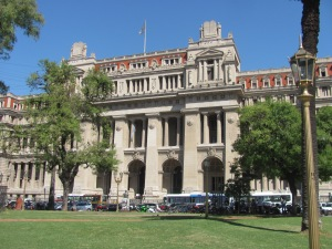 The justice building in Italian and French architecture.
