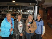 Meeting up with old friends - Sheila MacKinnon, Hughena Matheson, Ellen Davis, and me.