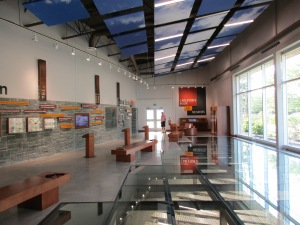 The museum and gallery inside the Centre.