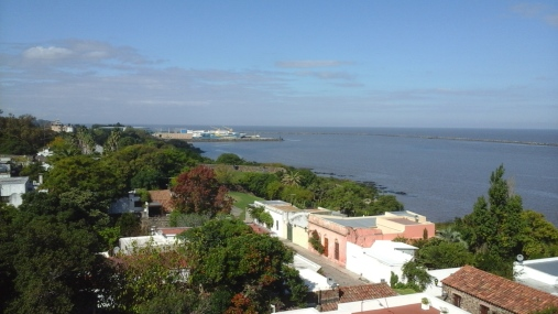View from the top of the lighthouse.