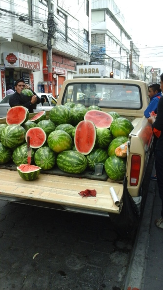 Watermelons galore.