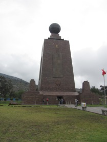 The Equator - centre of the world near Quito.