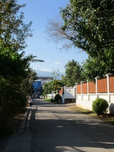 A nearby side street.