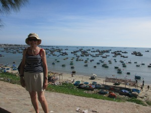 Overlooking the harbour of Phan Thiet.