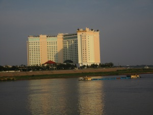 A luxury govt. hotel across the river.