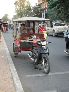 A typical Cambodian tuk tuk.