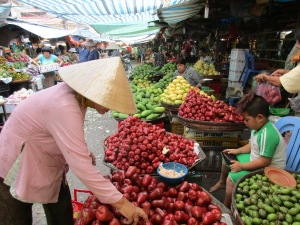 Chau Doc's market.