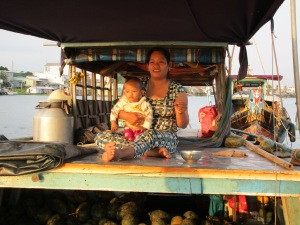 On one of the floating markets.