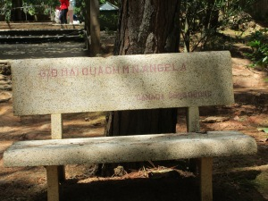 Zen affiliates from around the world have donated benches. This is from Canada.