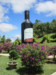 Advertising Dalat wine at the Park.