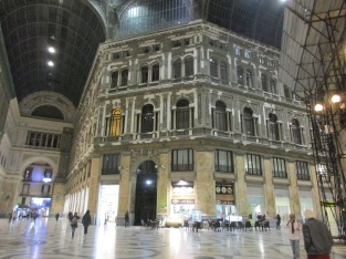 The Gallery Umberto - a huge shopping centre in the Historic Centre.