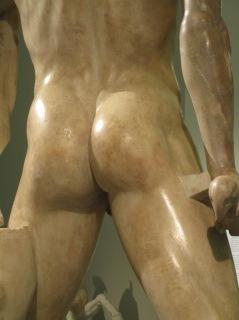 Back of male torso