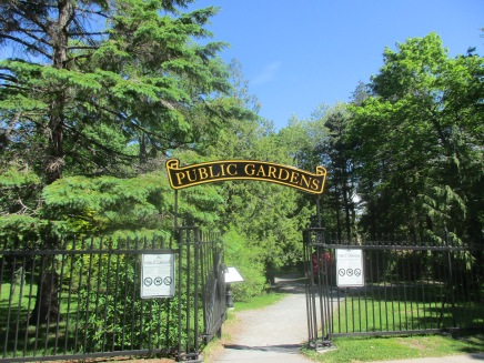 One of the entrances to the Public Gardens-a true Victorian Garden in the centre of the city.