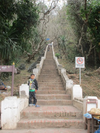 Steps leading up to the top of Mt.Phousi