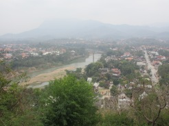 Looking down to the Nam Kham River