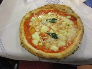 A traditional Napoli pizza