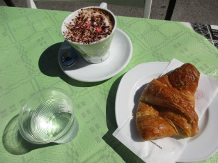 Typical Italian breakfast in Gaita