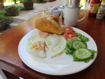 Typical breakfast in Viet Nam