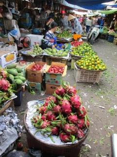A market in Chau Doc, Viet Nam