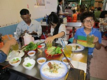 Dinner with friends in Chau Doc