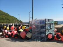 Lobster traps at Victoria Beach