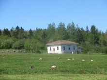 The community hall where the local farmers gather to share their methods and ideas