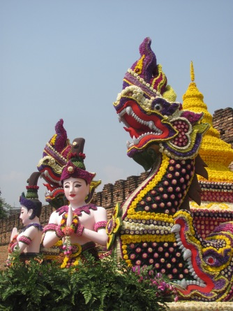 Float from the annual Flower Festival in Chiang Mai