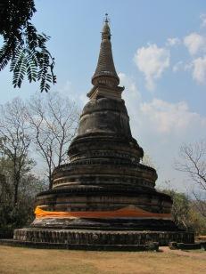 Thai stuppa erected to hoour Queen Sirokat