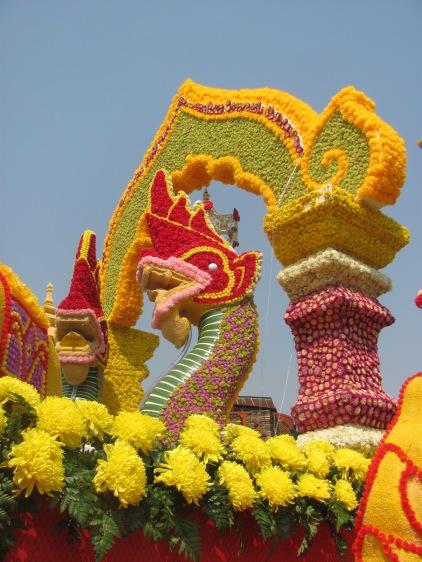 Elaborate float for Flower Festival