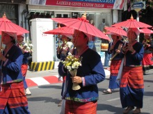 The annual Flower Festival in Chiang Mai.