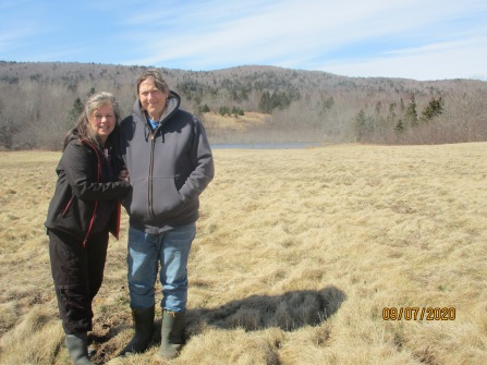 Sustainable farmers, Allan and Medea Holtz.