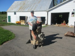 Lou and Julia Springob with sheep dog.